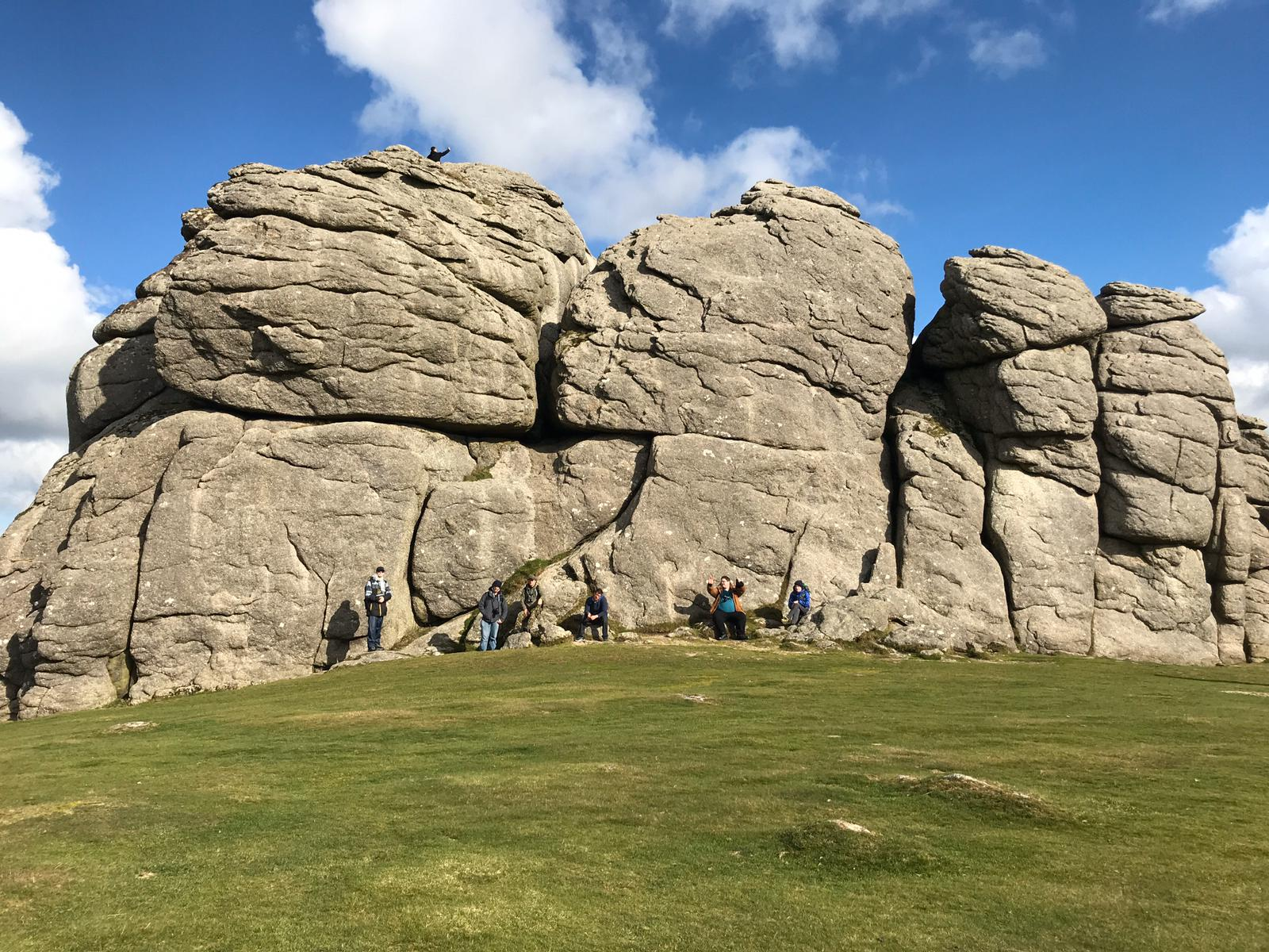 The sun shining on the Great Dartmoor Adventure